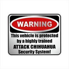 Auto Aufkleber Sticker Warning CHIHUAHUA Hunde Einbruch Warnaufkleber Siviwonder