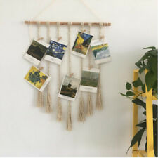 Handwoven Bohemian Cotton Rope Boho Tapestry Wall Hanging Tapestries Decor 6L