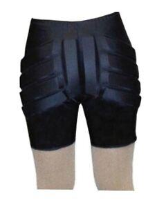 Silver Lining Black Padded Shorts Figure Skating Jumps Fall Protection Large