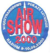 Radom (Poland) International Air Show 2000 pilot sleeve patch, first issue ever