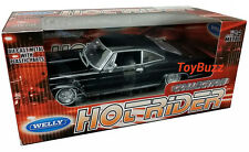 Welly 1:24 1965 CHEVY IMPALA SS LOW RIDER WIRE WHEELS BLACK 22417LR-BK