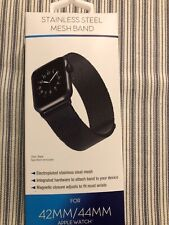 Black Stainless Steel Mesh Bands for 42/44 MM Apple Watch