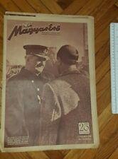New listing 1943 WWII HUNGARY ARMY MAGAZINE NEWSPAPERS MAGYAR ERO horthy miklos istvan WW2