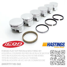 "202+060"" FORGED PISTON & MOLY RING SET 6 CYL MOTOR [HOLDEN LJ-LH-LX-UC TORANA]"