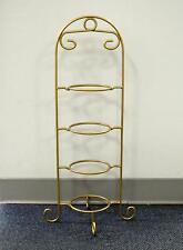 4 Tier Metal Teacup & Saucer Display Stand/Rack - Gold Powder Coat - Made In USA