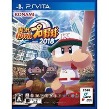 Konam Jikkyou Powerful Pro Yakyuu 2018 PS Vita SONY Playstation JAPANESE VERSION
