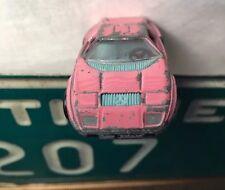 Pink PLAYART Baby Blue Interior MERCEDES BENZ C-111 Diecast 60s Metal Toy Car A+