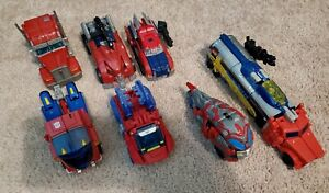 Transformers Optimus Prime deluxe figure Lot of 7.
