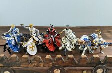 Set of 5 Medieval Knights and Horses Action Figures purchased in France - Euc