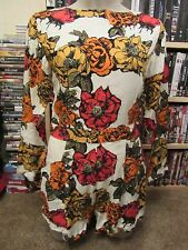 BNWT Motel Topshop Playsuit XS 6-8 Molly Museum Floral Long Sleeve 70s Hippy