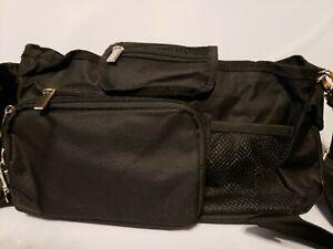 Stroller Organizer Zippered Phone Cup Holder Universal Fit Shoulder Strap Purse