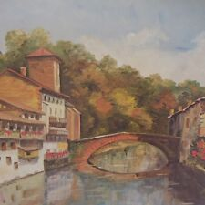 Reproduction peinture A.-M BLASSELLE Saint-Jean-Pied-de-Port 28-112 France