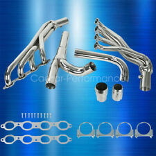 Fit Chevy Gmc 14-17 5.3L 6.2L Long Tube Stainless Steel Headers w/ Y Pipe (Fits: Gmc)