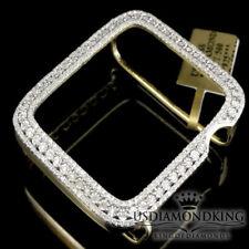 Apple Watch 1 Genuine Real Diamond Insert Bezel Cover Case Yellow Gold Tone 42mm