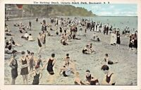 ROCHESTER NEW YORK~THE BATHING BEACH-ONTARIO BEACH PARK POSTCARD 1920s