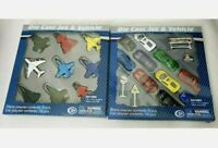 Die Cast Jets And Cars Kids Play Set Metal Vehicles With Accessories Toys NEW