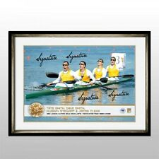 AUSTRALIAN MENS K4 100 2012 LONDON OLYMPICS GOLD MEDALLISTS MURRAY STEWART SMITH