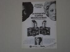 advertising Pubblicità 1974 MINOLTA HI-MATIC