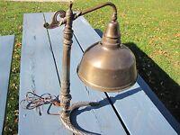 INDUSTRIAL ART DECO BLUE MERCURY SHADE GLASS REFLECTOR LIGHT LAMP STEAMPUNK