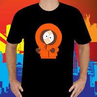 New SOUTH PARK Kenny Cartoon TV Series Character Men's Black T-Shirt Size S-3XL