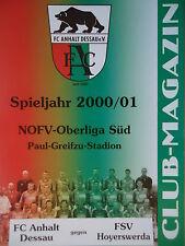 Eintracht Sondershausen Programm 2002//03 FC Anhalt Dessau