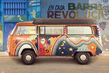 VW CAMPER CUBA POSTER (91x61cm)  PICTURE PRINT NEW ART