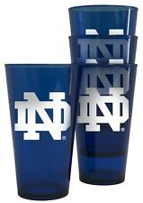 Notre Dame Fighting Irish Plastic Pint Glass - Set of 4 [NEW] NCAA Cup