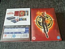 Captain Marvel 4K + 2D Blu-Ray UK Collector Edition Steelbook+SlipCase New&Seal+