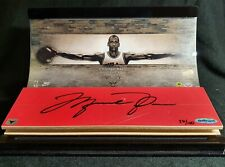 MICHAEL JORDAN Signed Game Used Floor Display Chicago Bulls upper deck autograph