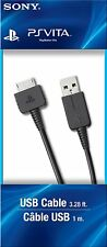 Oficial Sony PlayStation PS VITA transferencia de sincronización USB cable de carga play PCH-ZUC1