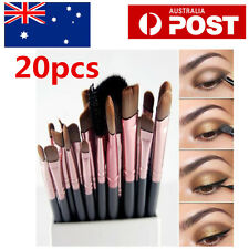 20pcs Makeup Brush Set Eyeshadow Eyebrow Powder Foundation Contour Lip Brushes
