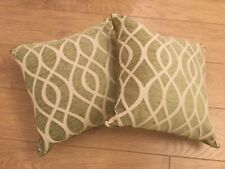 Green Cushions x 2 - Wikos - New Inner Cushion (Not Cover) Approx 38x38cm
