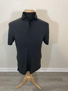 Lululemon Black Solid Tech Polo Shirt Men's Medium M Short Sleeve