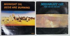 2 VINYLES MIDNIGHT OIL 45 TOURS BEDS ARE BURNING - THE DEAD HEART