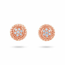 Pendientes de joyería de oro rosa de 18 quilates