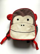 Skip Hop Zoo Monkey Mini Backpack Safety Harness Ring No Tether Child Size Brown