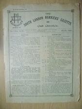 1928 RIVISTA ATLETICA LEGGERA-SUD di Londra legate Gazette & CHRONICLE-No.3, VOL. XLIV