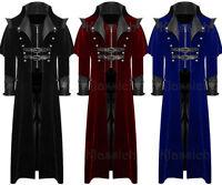 Men's Coat Long Jacket Velvet Gothic Steampunk VTG Regency Highwayman