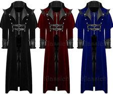 Men's Coat Long Jacket Black Gothic Steampunk VTG Regency Highwayman