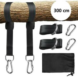 Swing Hammock Strap Tree Hanging Kit Hooks Carabiner Home Garden Swing Fittings