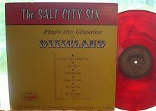 SALT CITY SIX Classics in Dixieland RARE EX 1963 AUDIOPHILE RED VINYL Jack Maheu