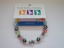 Awareness Ribbons Glass Beaded Bracelet NEW with Tags