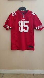 San Francisco 49ers #85 Vernon Davis Jersey Size Youth XL (18/20) NFL Nike
