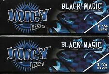 JUICY JAY'S BLACK MAGIC FLAVORED HEMP CIGARETTE ROLLING PAPERS 1 1/4 SIZE 2 PACK