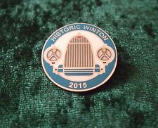 LAPEL BADGE/PIN - BUGATTI RADIATOR - AS FEATURED ON HISTORIC WINTON 2015 BADGE