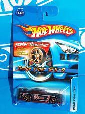 Hot Wheels 2005 Mainline Release Dodge Viper GTS-R Flat Black w/ FTEs