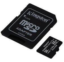KINGSTON Micro SD SDHC Carte Mémoire Classe 10 32GB Avec Adapter