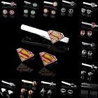 Mens Super Hero Cufflinks Wedding Party Gift Cuff Links Tie Clip Pin Clasp Bar