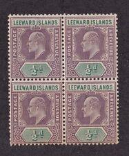 KAPPYSSTAMPS ID3818 LEEWARD ISLANDS 20 MINT  BK/4 NH NEVER HINGED BLOCK