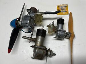 Lot Of Used Ohlsson & Rice Eagle Model Airplane Engines, Glow Plug